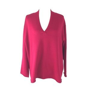 Eileen Fisher V Neck Pullover Drop Sleeve Sweater